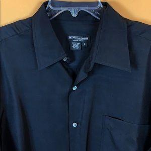J. Peterman silk men's dress shirt button down